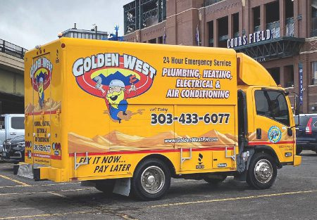 Golden West Plumbing Heating Electrical & Air Conditioning Truck